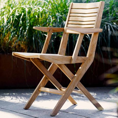 Flip Dining Folding Outdoor Chair by Strand and Hvass for Cane-Line - Aram Store