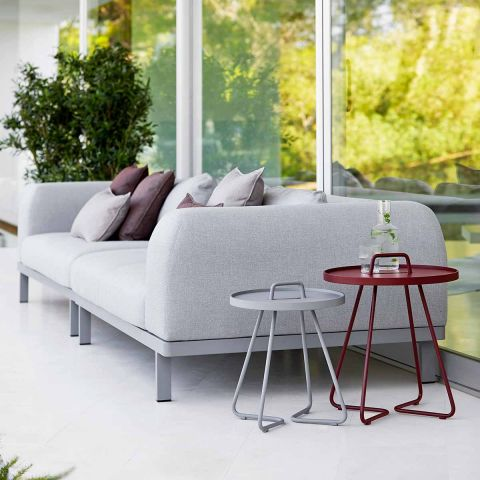 Space 2 Seat Outdoor Sofa with arm by Foersom and Hiort-Lorenzen MDD for Cane-line - ARAM Store