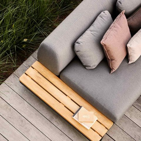 Space 2 Seat outdoor sofa with Side board by Foersom and Hiort-Lorenzen MDD for Cane-line - ARAM Store