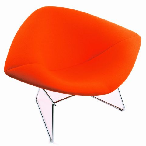 Bertoia Diamond Chair - fully upholstered by Harry Bertoia from Knoll International - Aram Store