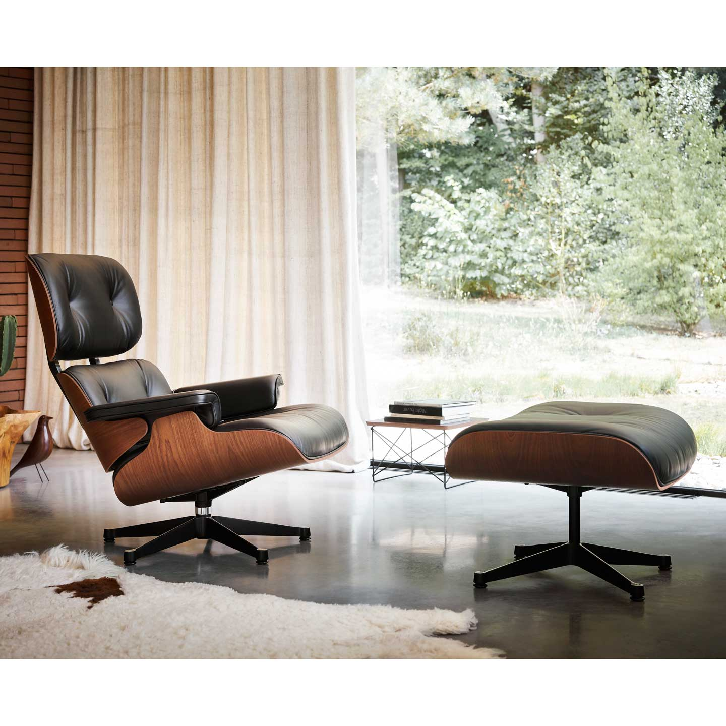 Eames Lounge Chair and Ottoman - Mahogany