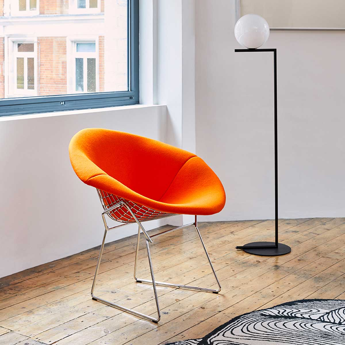 Bertoia Diamond Chair - fully upholstered