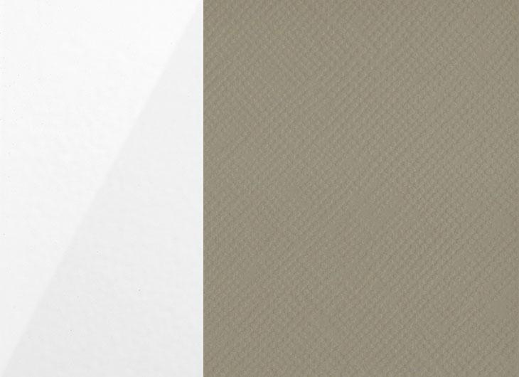 Gloss White Outer Textured Dove Grey Inner