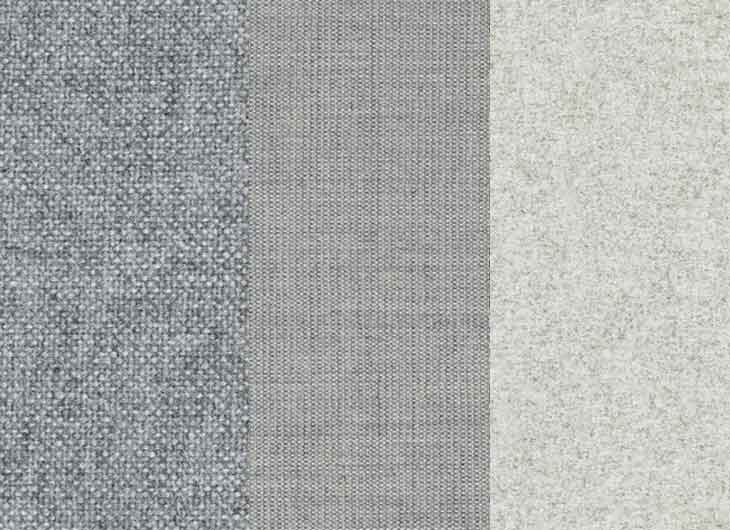Light Grey Mixed Upholstery