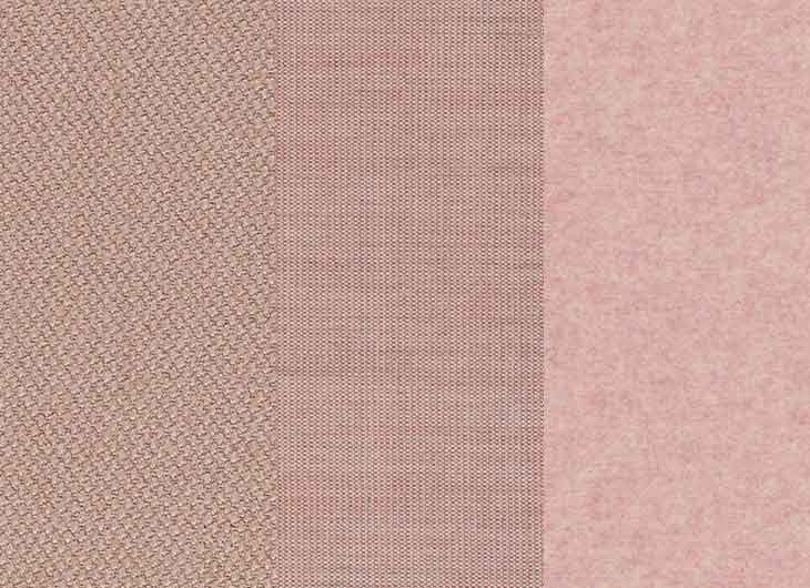 Light Pink Mixed Upholstery