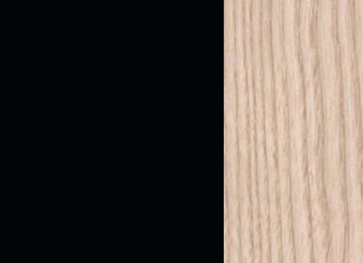 Black Frame Light Oak Arms