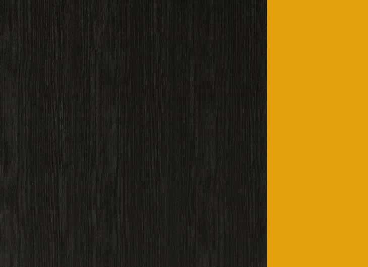 Black Hemlock Frame Yellow Inside