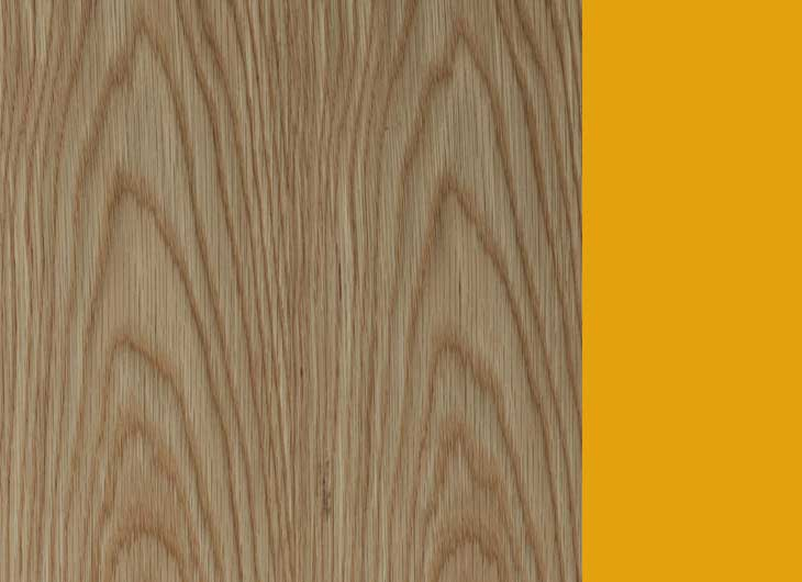 Oak Frame Yellow Inside