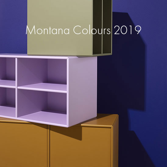 The 2019 Montana Furniture colour palette at Aram Store